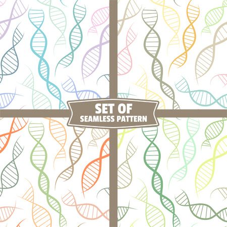 scientific background, seamless pattern with DNA, the genetic spiral
