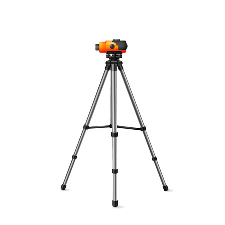 quantity surveyor: level for geodetic works, vector image tool for surveyors on a white background Illustration
