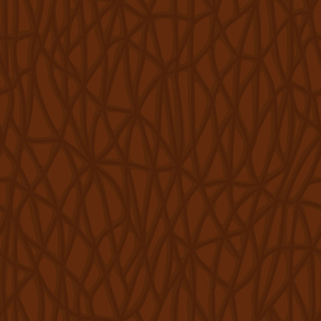 rock layer: brown skin, skin surface texture, vector seamless pattern with leather Illustration