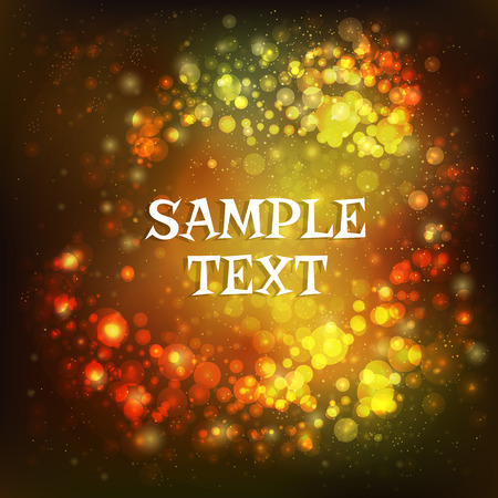 circling: glowing abstract background with place for text elegant background with sparkles and bokeh circle