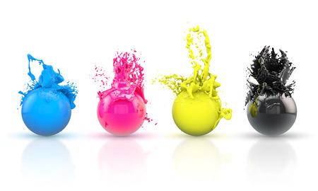 CMYK balls photo