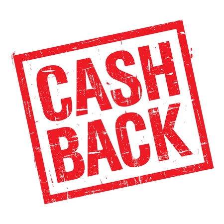 Grunge stamp with text cash back on white background  photo