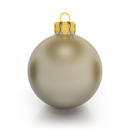 3d rendering of a grey christmas ball over white background. photo