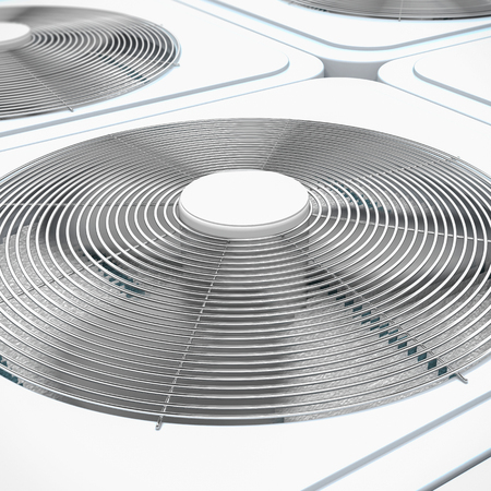 3d render of close up view on HVAC units (heating, ventilation and air conditioning) Reklamní fotografie