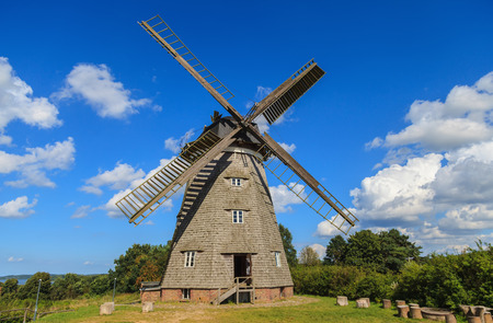 Traditional Dutch windmill in Benz, on the island of Usedom (Germany)
