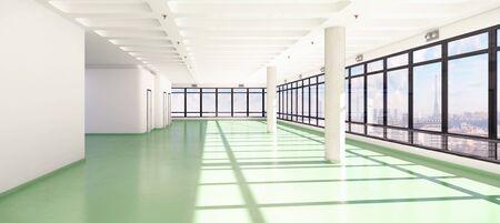 3d render of an empty office building - modern architecture. Stock fotó