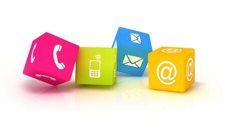 Four 3D contacting symbols.