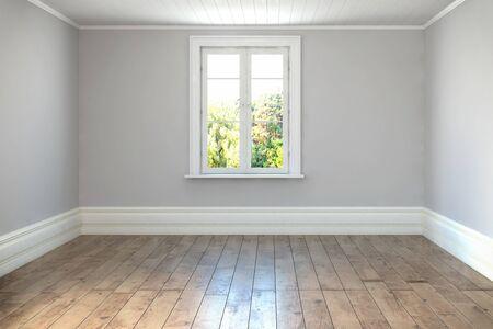 3d render - empty scandinavian room - livingroom