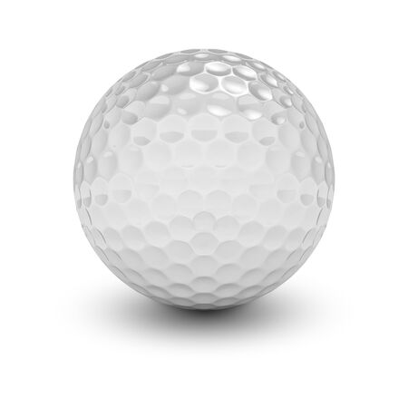 3d rendering of a golf ball over white background