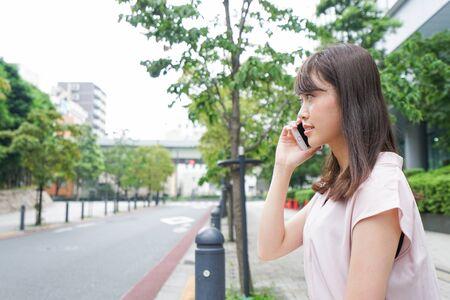 woman phone calling Banco de Imagens