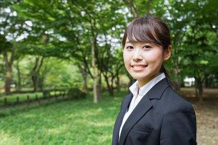 Young business woman with smile