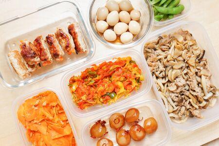 Meal prep for lunch box 版權商用圖片