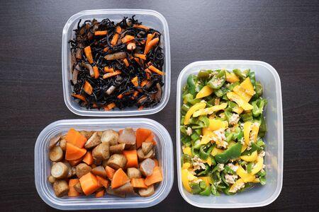 Preparación de comidas para la lonchera Foto de archivo