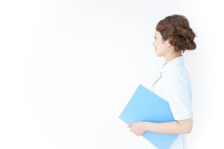 nurse having documents