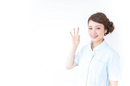 nurse giving ok sign