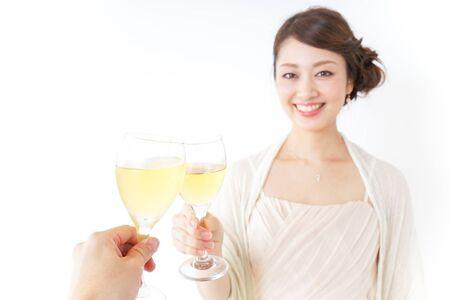 Woman drinking Stock Photo
