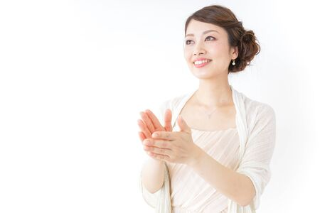 woman clapping in party