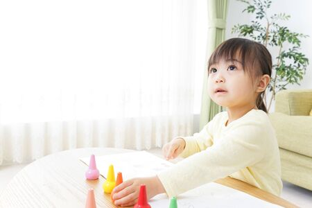 A child painting pictures 写真素材