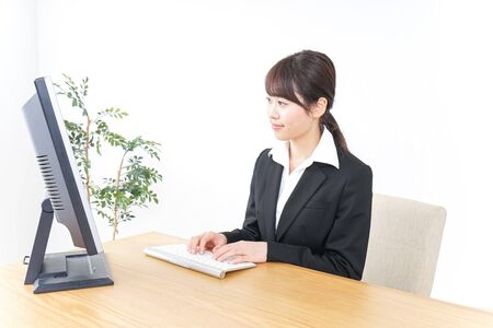 Business woman working at office
