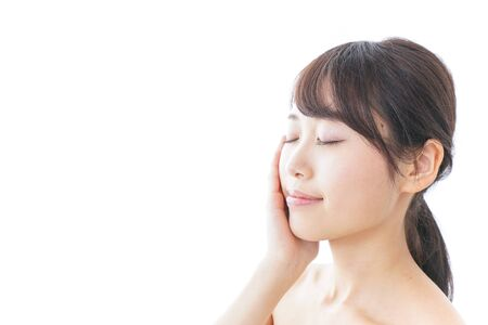 Young woman skin care image
