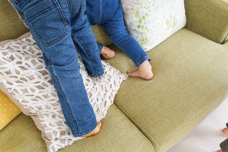 Legs of playing children