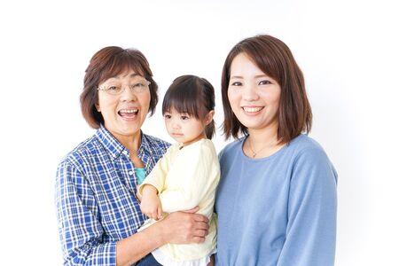 Enfant, mère et grand-mère Banque d'images