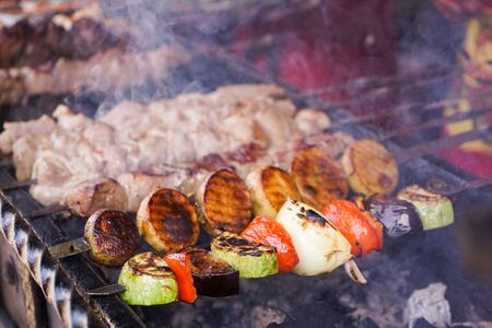 Bbq and grilled chicken