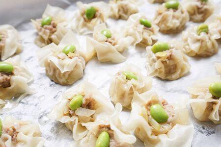 homemade steamed meat dumpling