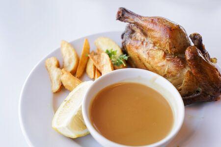 rotisserie chicken image Stock Photo