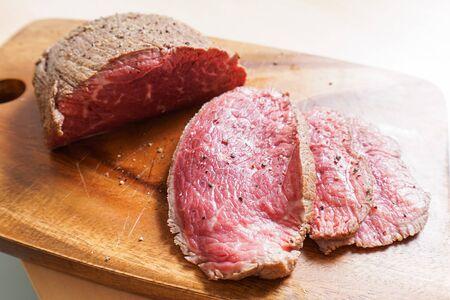 handmade roast beef Stockfoto