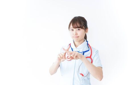 Nurse giving no sign 写真素材
