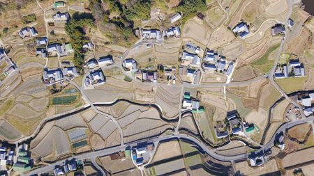 aerial photography of country view in Japan