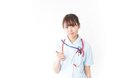 Nurse caring something