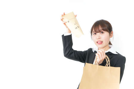 Woman be frustrated at a salary
