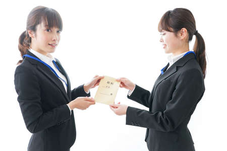 Young woman salary image 스톡 콘텐츠