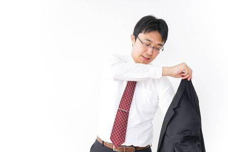 Busy businessman image