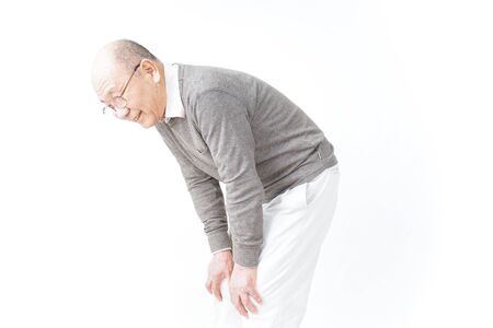 Aged man suffering from pain in knee