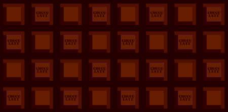 Realistic seamless texture with dark chocolate bar, vector illustration 10EPS 矢量图像