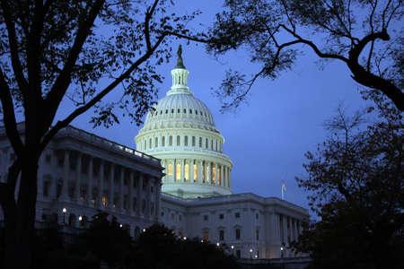 Capitol in Washington DC at night