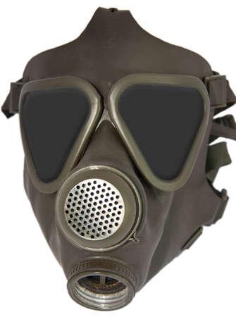 Isolated gas mask photo