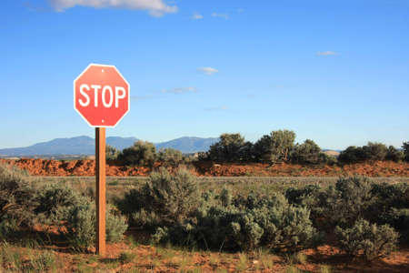 Stop sign in the middle of nowhere