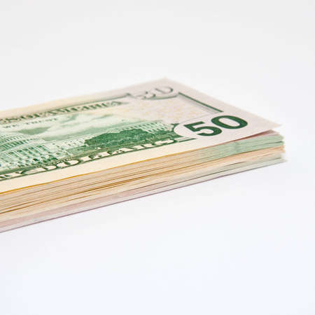 Bunch of Dollarnotes Stock Photo
