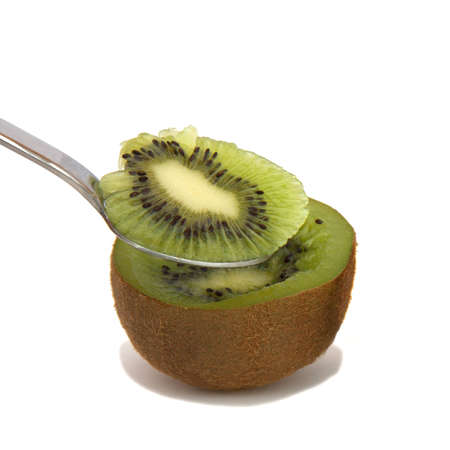 A dimezzare di un kiwi e un cucchiaio