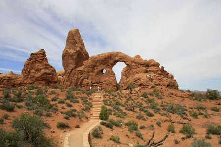 Stones and arches at Arches National Park, Utah Stock Photo