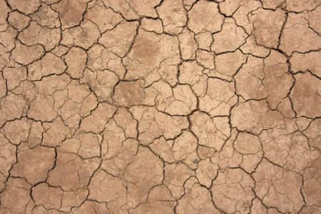Top view shot of cracked soil Stock Photo
