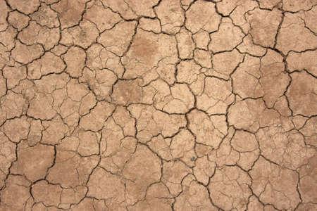 Vista superiore colpo di cracking del suolo