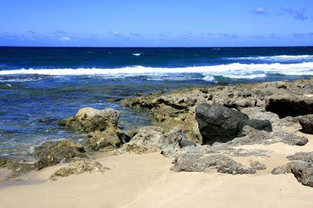 La costa hawaiian a Oahu Archivio Fotografico