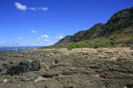 The hawaiian coast at the pacific photo