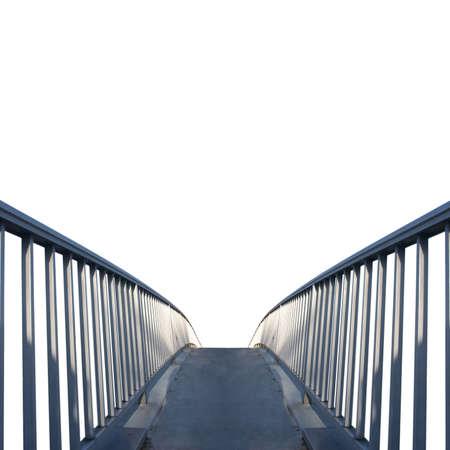 Piazza colpo di un ponte isolato su sfondo bianco
