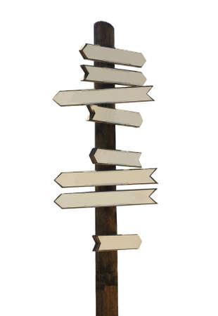 arrow wood: Signo vintage de madera con copia espacio